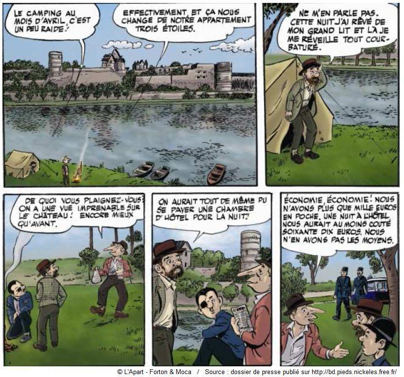 Les Pieds Nickelés visitent les châteaux de la Loire extrait 2